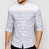 5 Ways To Wear A Monochrome Stripe Shirt This Spring